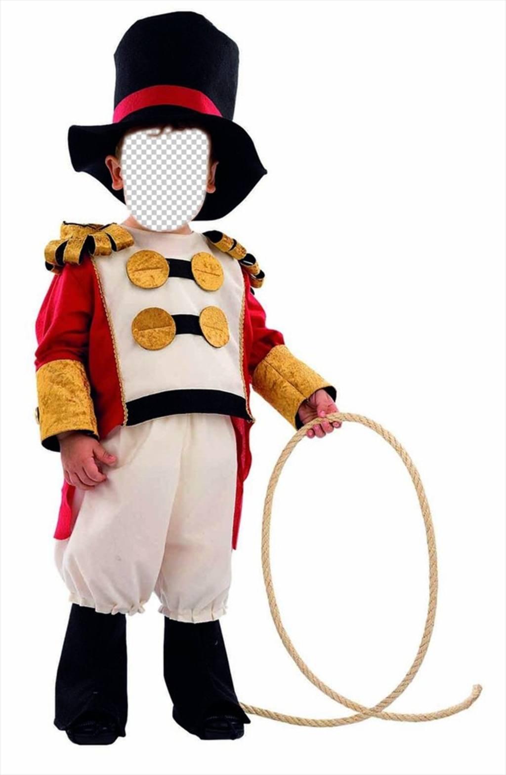 Enfants photomontages de lion dompteur de cirque pour modifier