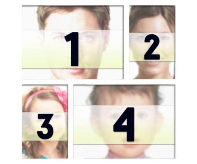 Cadre blanc des photos de placer quatre photographies