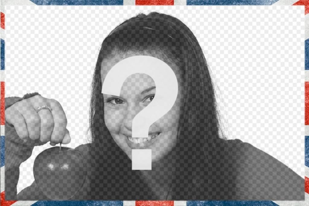 Cadre photo avec un style drapeau britannique grunge pour décorer vos photos en ligne