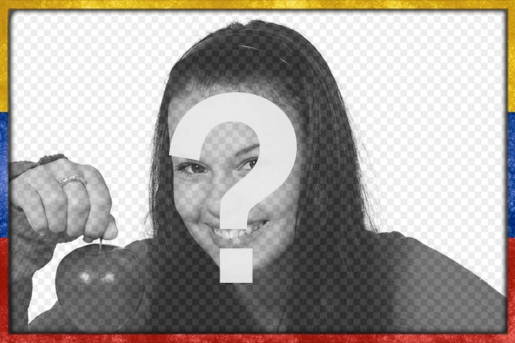 PhotoFrame avec le drapeau du Venezuela avec un style grunge âge usé avec lequel vous pouvez personnaliser vos images