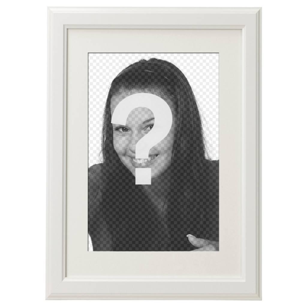 PhotoFrame blanc élégant et minimaliste pour décorer vos photos préférées et de les envoyer par email ou WhatsApp et social partage de médias