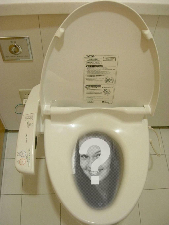 Drôle Photomontage où tu mettras ta photo dans un wc chinois ou japonais dissous dans leau de la toilette