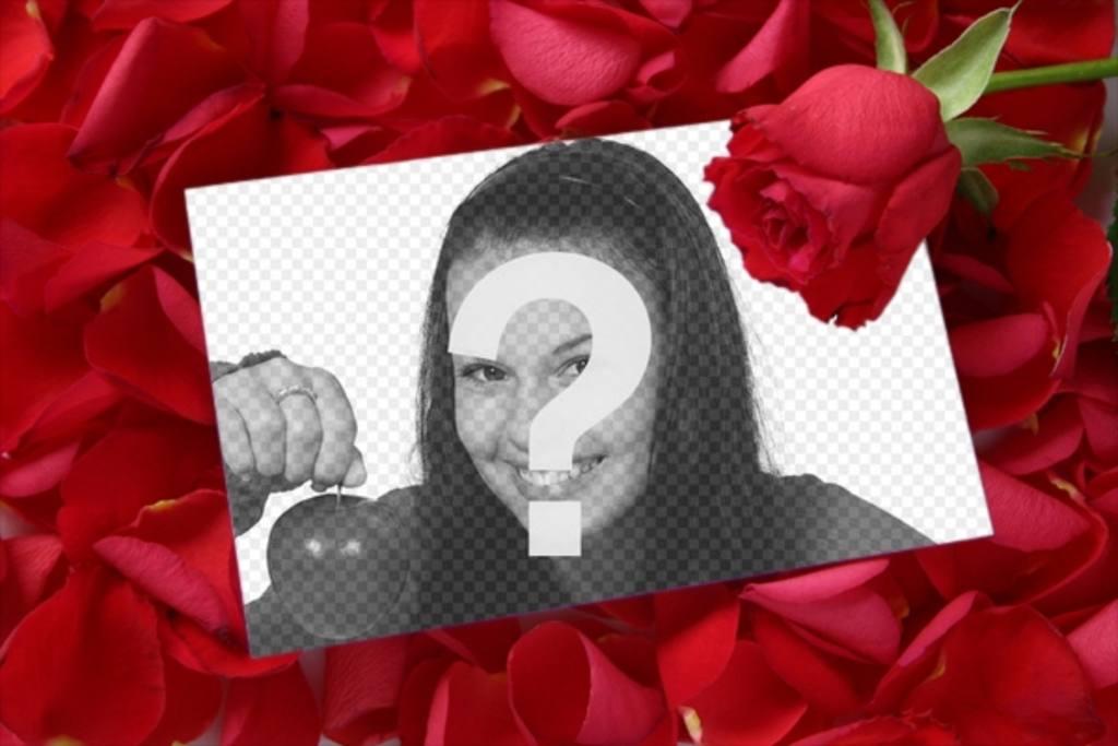 mettre une image dans une lettre d u0026quot amour avec un p u00e9tale de rose sur