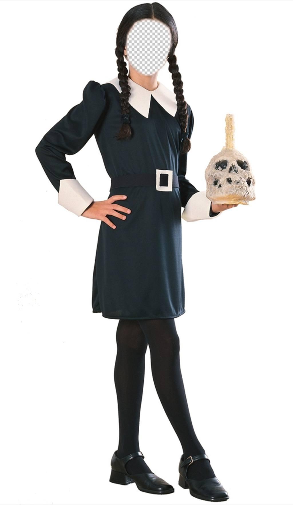 Créer un photomontage terrifiant avec cette photographie de mercredi Addams