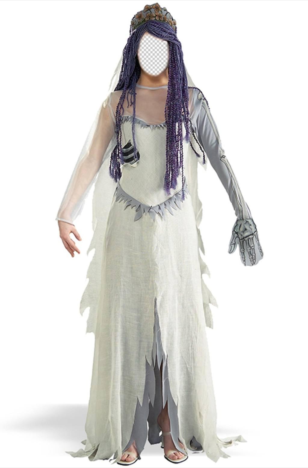 Photomontage dun costume de Corpse Bride vous pouvez modifier en ligne