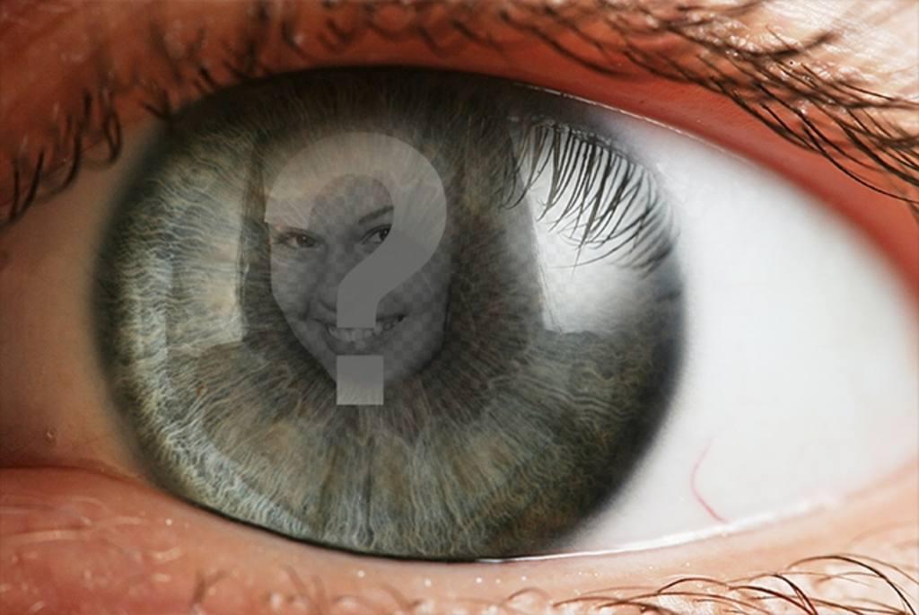 Créer un photomontage avec un œil et une image superposée sur liris et la pupille comme le reflet