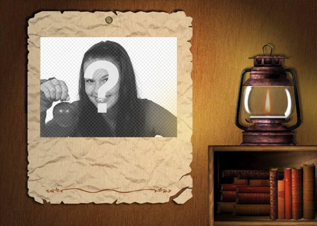 cadre photo   u00e9clair u00e9 par lampe  u00e0 huile  de mettre une image de fond