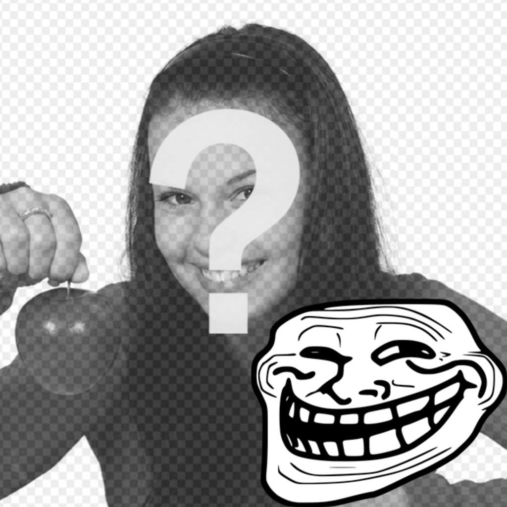 Photomontage pour mettre le Troll Face Meme avec votre photo