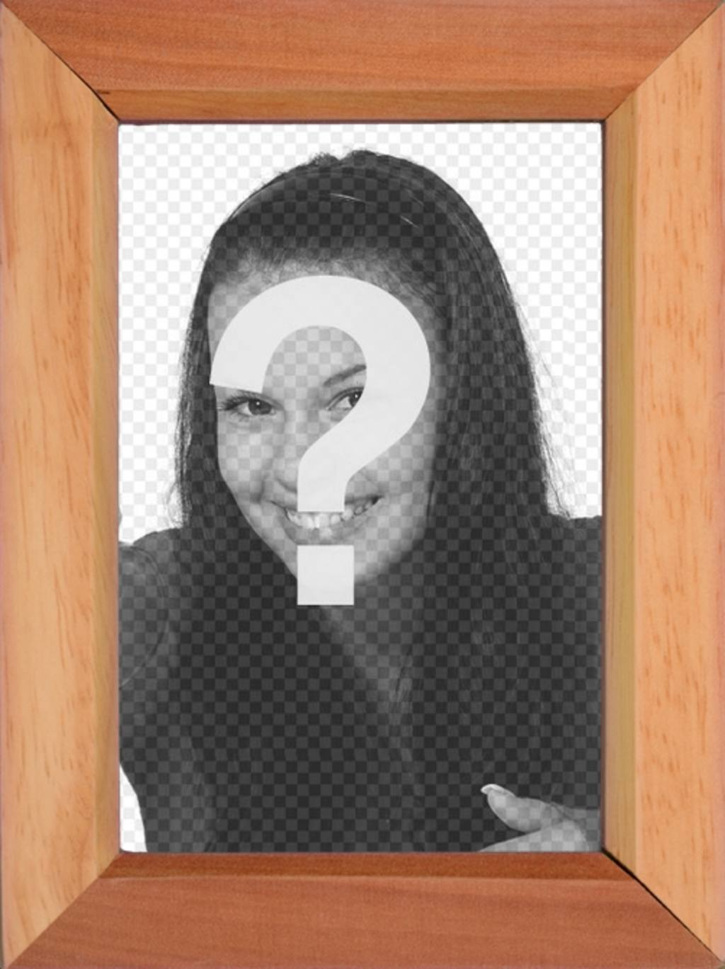 Style cadre photo en bois pour mettre une photo