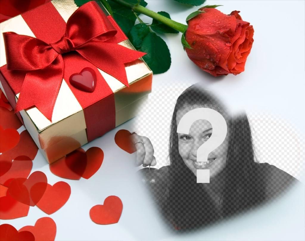 carte damour dans laquelle theres un cadeau coeurs et une rose vous pouvez photoeffets. Black Bedroom Furniture Sets. Home Design Ideas