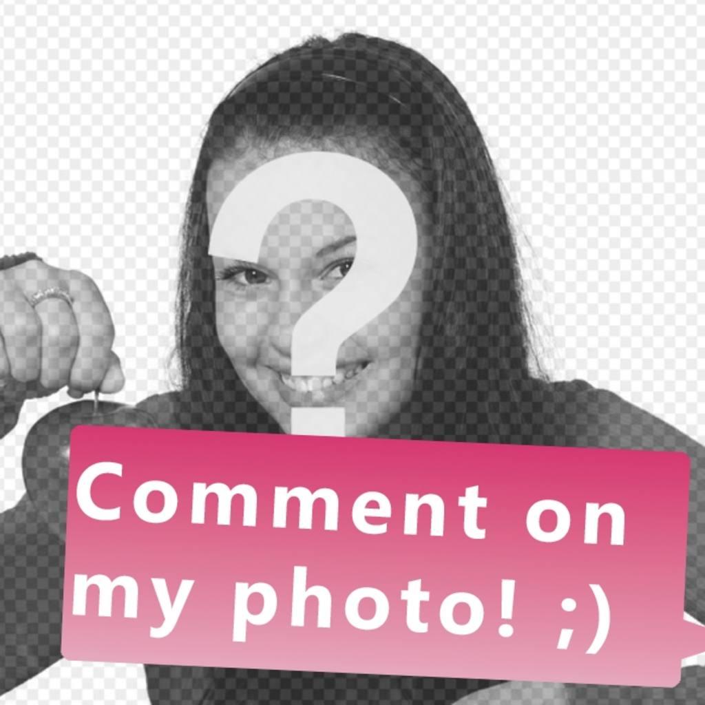 Mettez votre photo dans le texte commentaire sur ma photo pour vos amis décrire dans votre photo de facebook et aime avoir beaucoup ;)