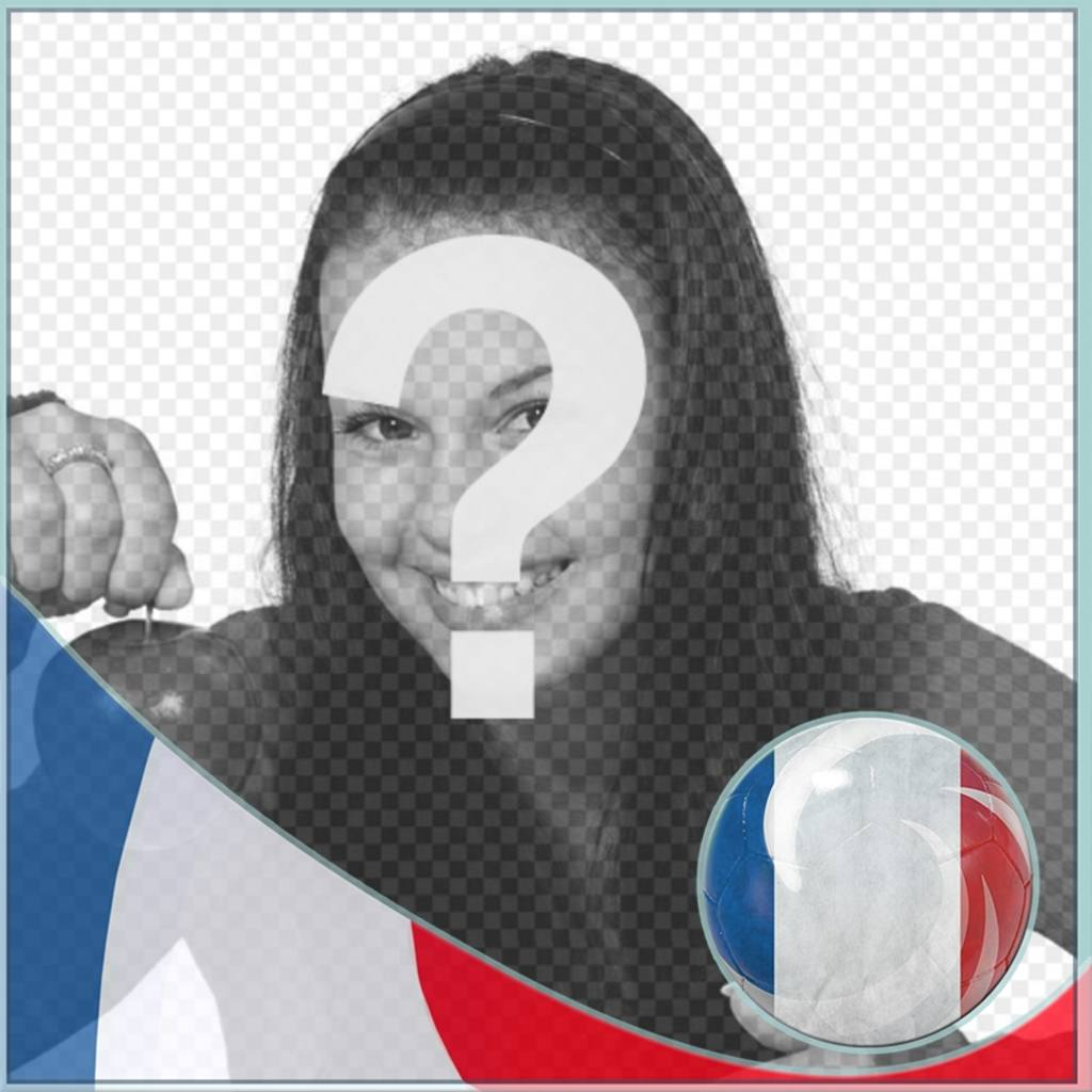 Montage avec le drapeau de la France de mettre le profil sur les réseaux sociaux