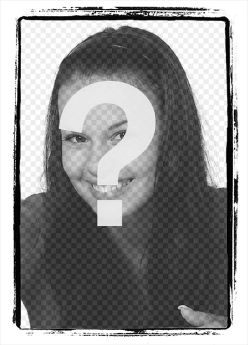 Cadre photo avec le bord de la peinture noire pour mettre une photo