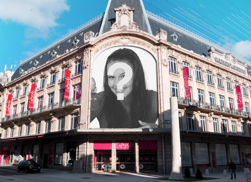 Montage sur Galeries Lafayette à Paris