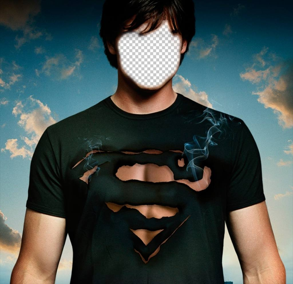 Photomontage personnifier Tom Welling de Smallville comme Superman