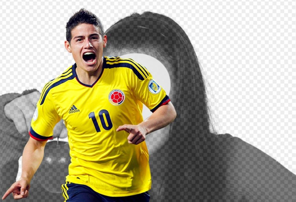 Photomontage avec James Rodriguez de la Colombie