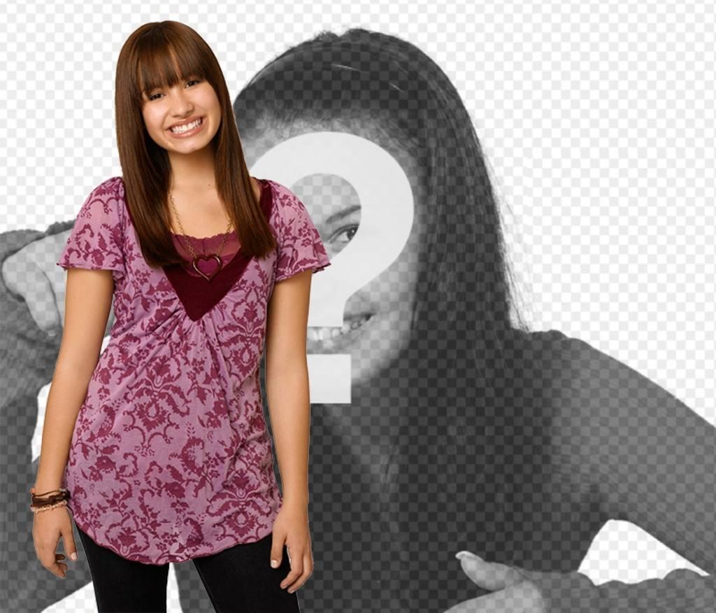 Photomontage avec Demi Lovato dans Camp Rock 2. Posa