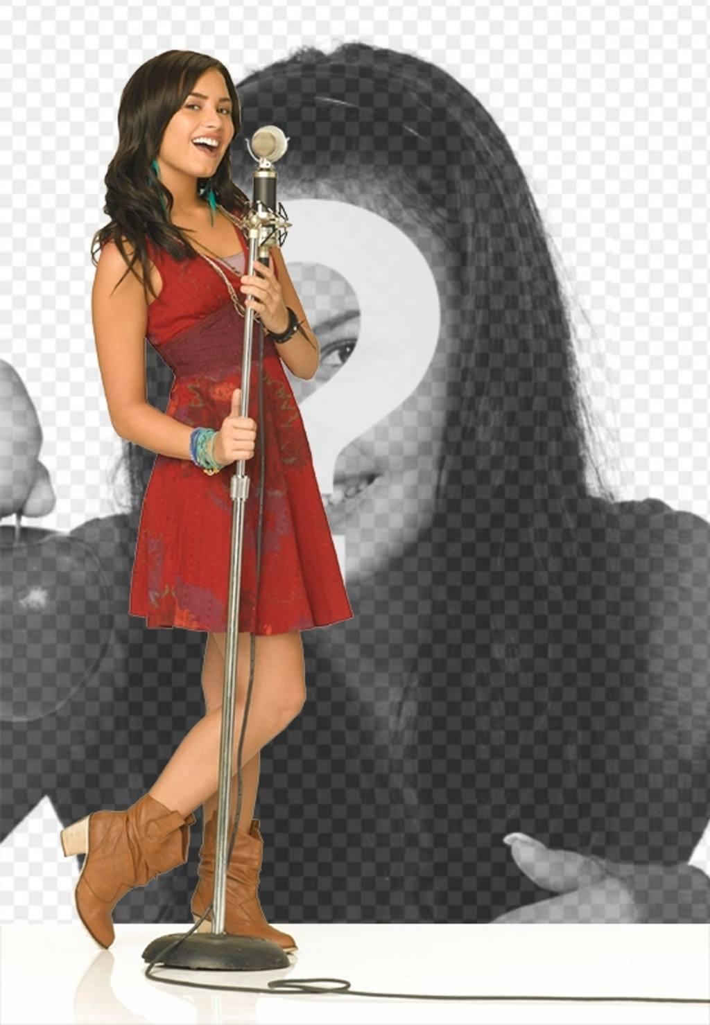 Photomontage de Camp Rock 2 avec Demi Lovato chant. Chantez à Demi
