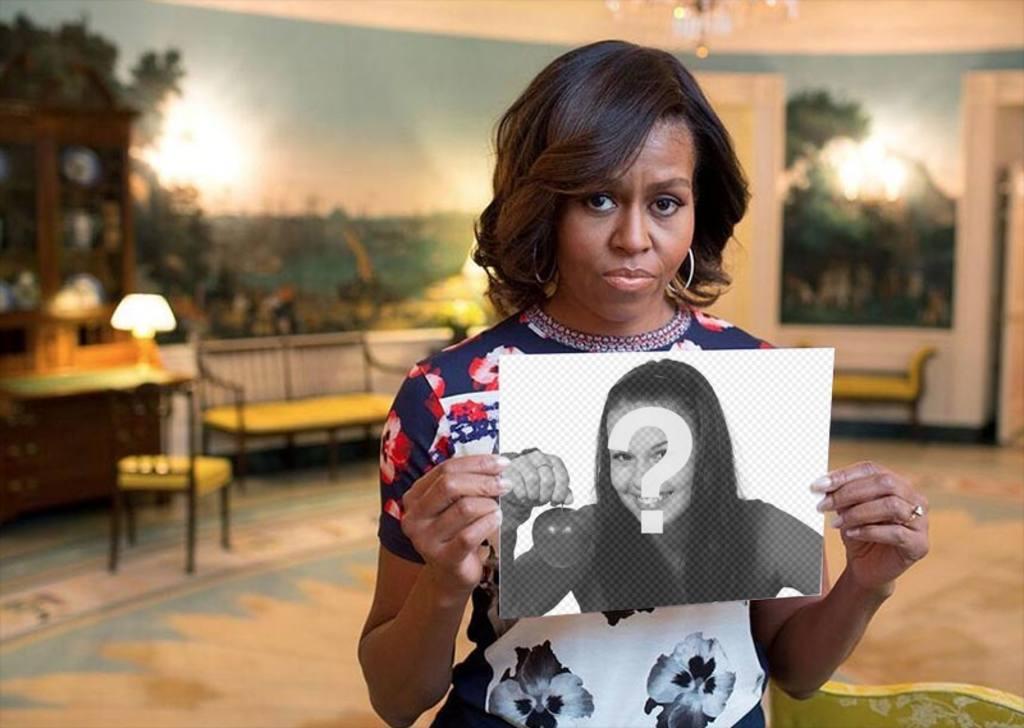 Photomontage avec Michelle Obama la tenue de votre image