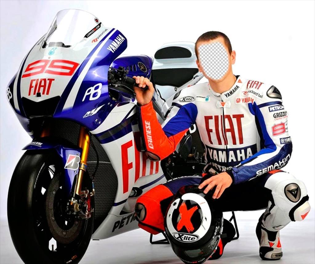 Photomontage de Jorge Lorenzo, célèbre pilote MotoGP espagnol