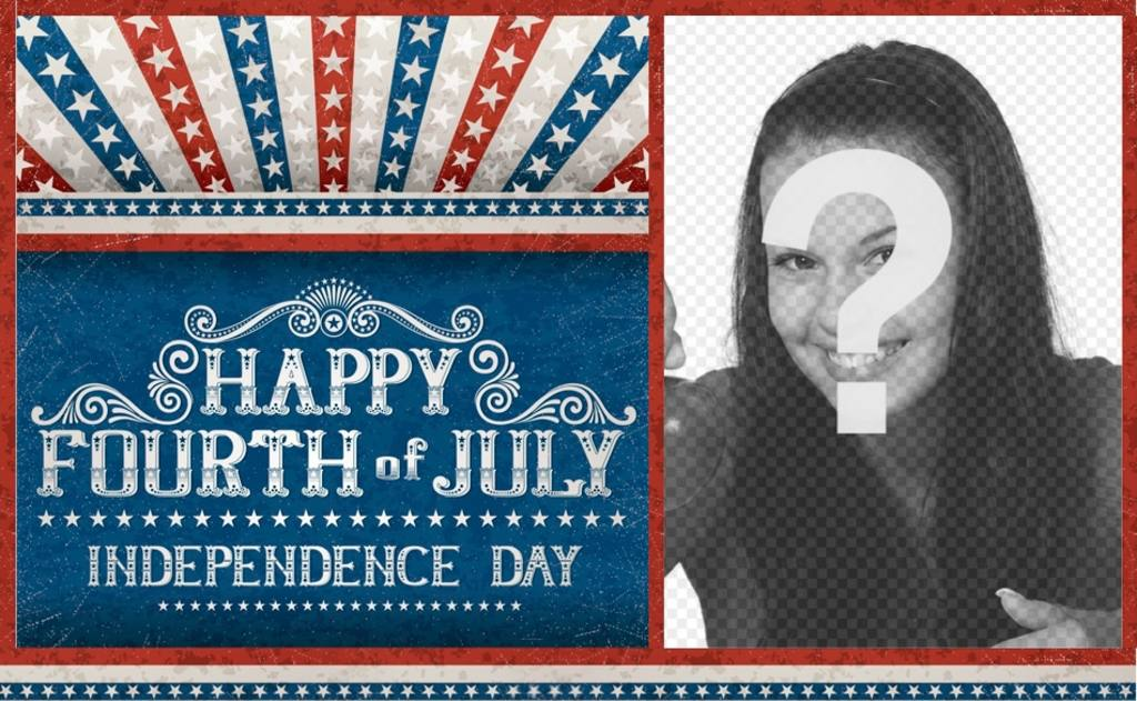 Poster pour célébrer lindépendance des Etats-Unis dAmérique