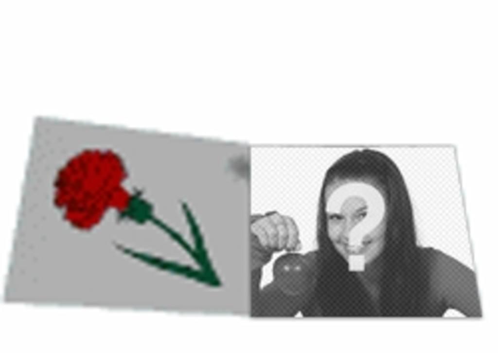 """Personnalisé lettre d""""amour d""""animation animée avec une rose. Avec votre photo"""