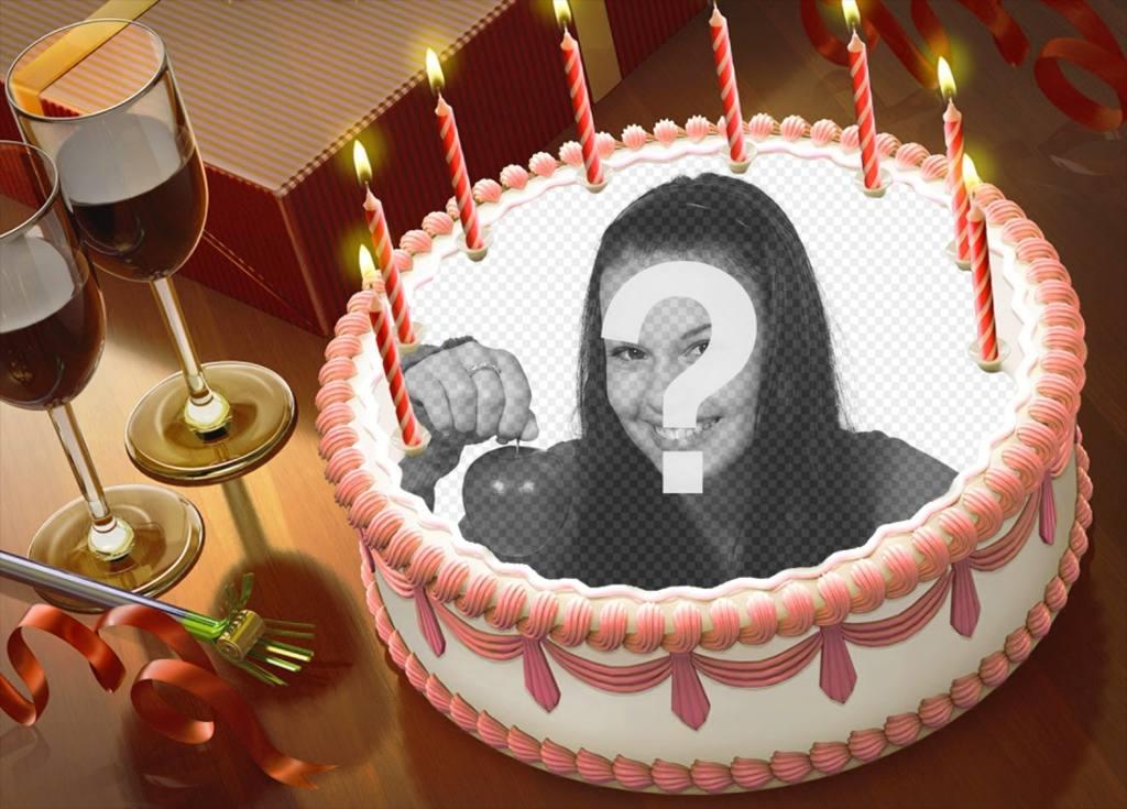 Mettez votre photo sur un gâteau danniversaire avec cet effet