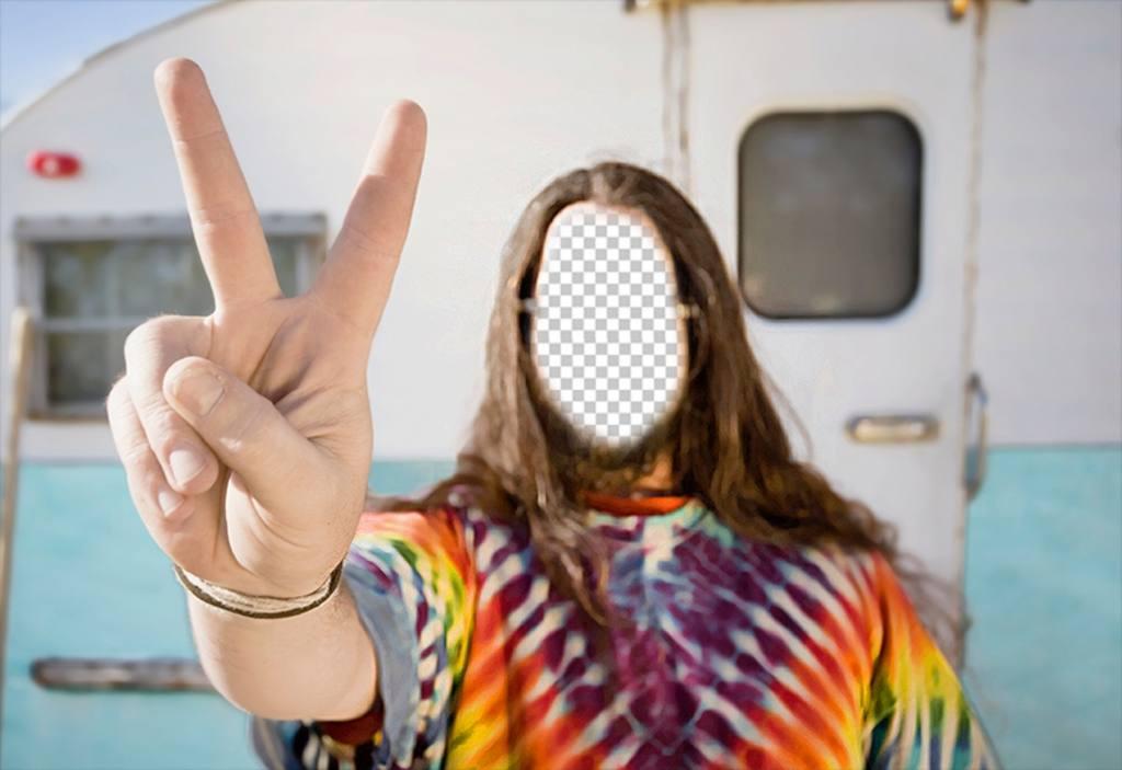 Photomontage de mettre votre visage dans un hippie avec une caravane