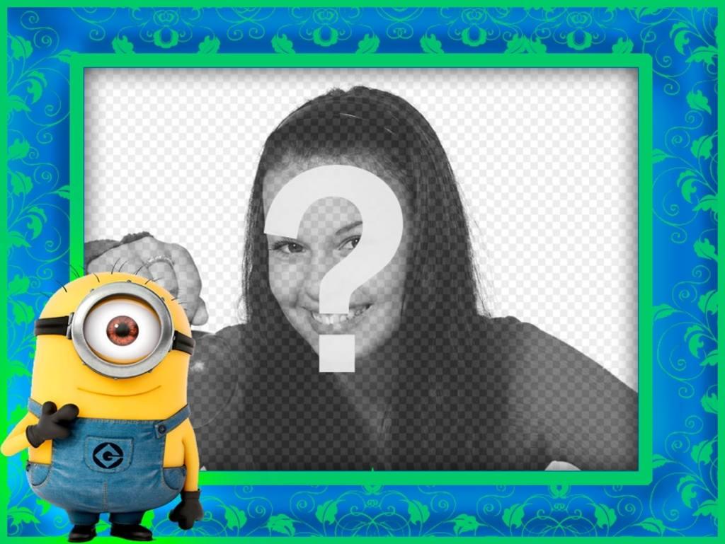 """Cadre photo avec Minion du film «Gru, Despicable Me"""""""