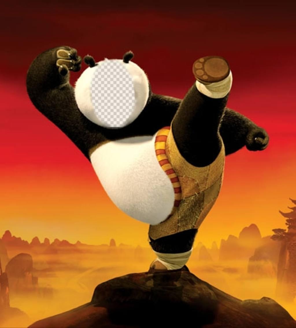 Soyez Kung Fu Panda avec ce photomontage que vous pouvez modifier pour effet Fun