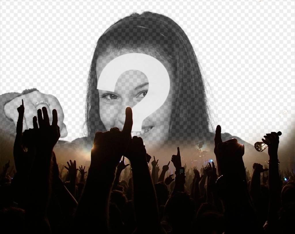 Photomontage de laudience dun concert