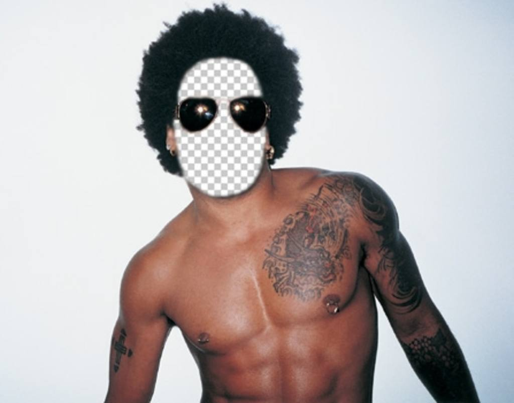 Placez votre visage sur le corps de Lenny Kravitz éditer cet effet en ligne
