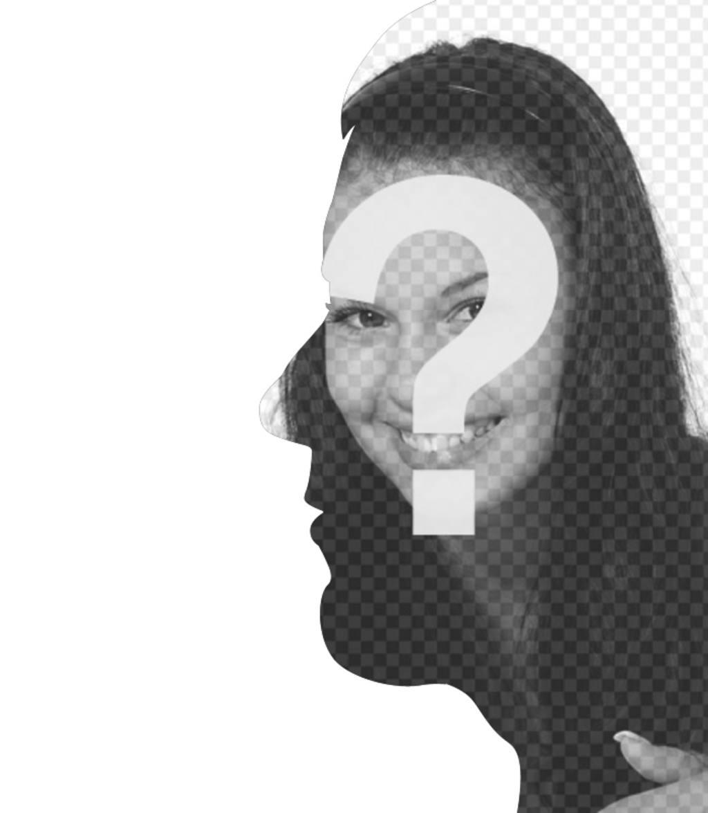 Montage avec la fusion entre le profil et la face de votre visage