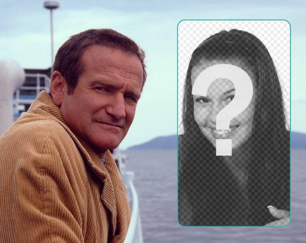 Apparaît dans ce collage avec Robin Williams dans la mer
