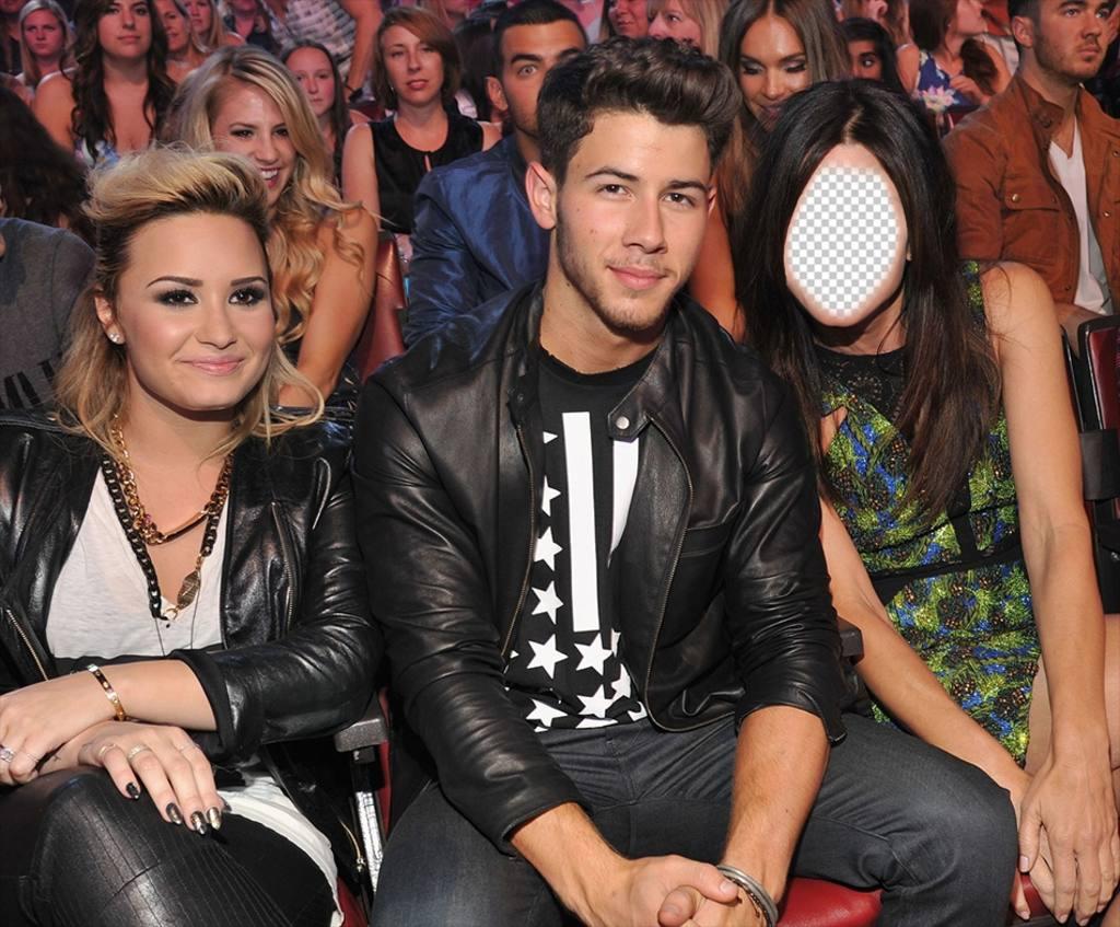 Photomontage de poser avec Joe Jonas et Demi Lovato