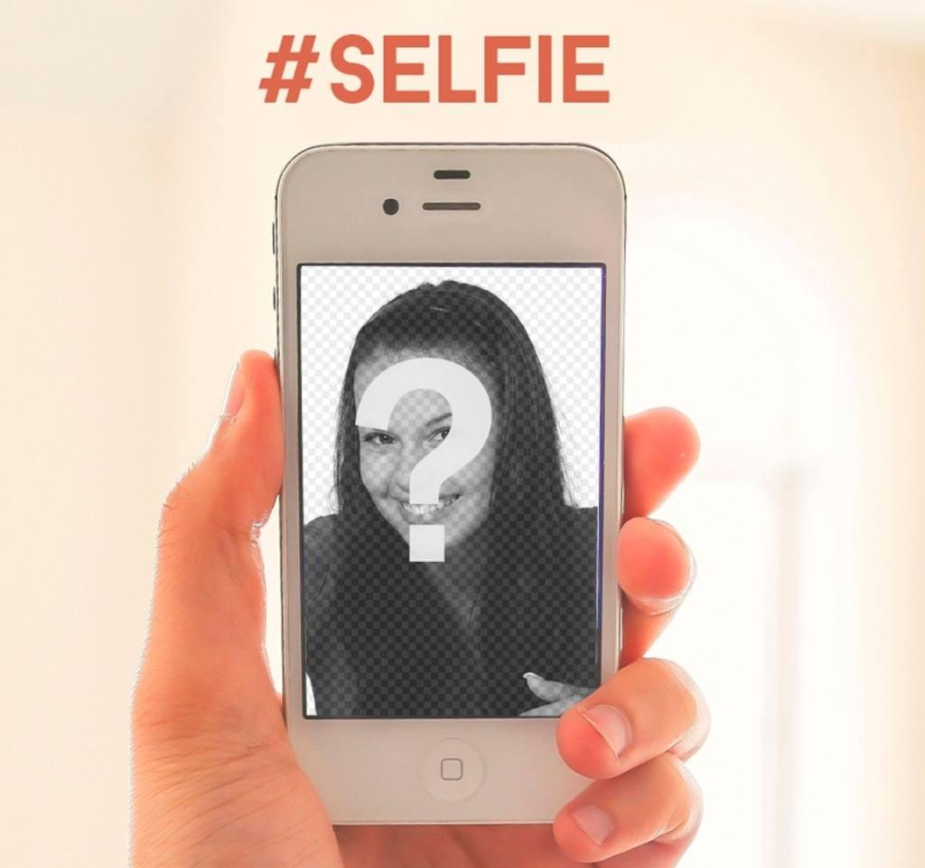 Modèle pour votre selfie un iphone blanc