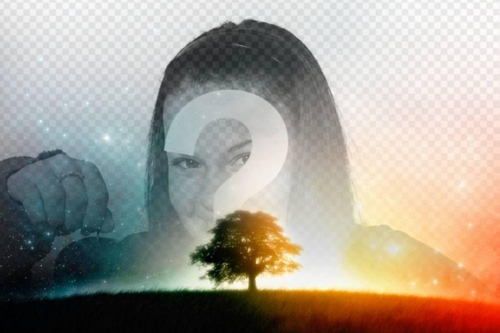 Faites un collage dun ciel étoilé avec votre image