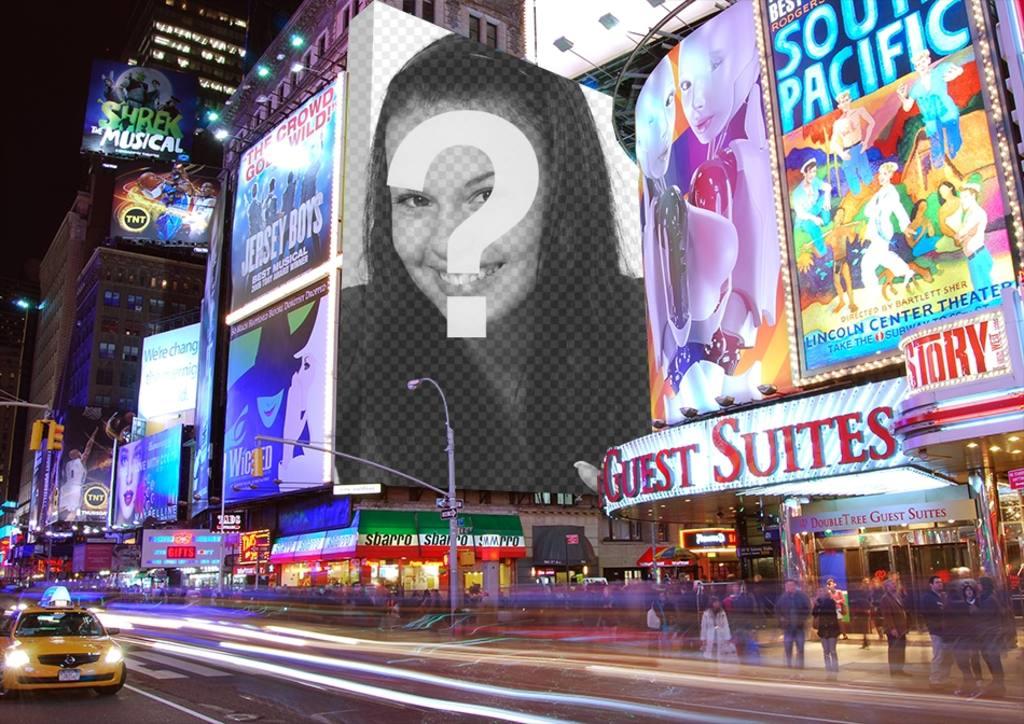 Photomontage avec des affiches à Times Square