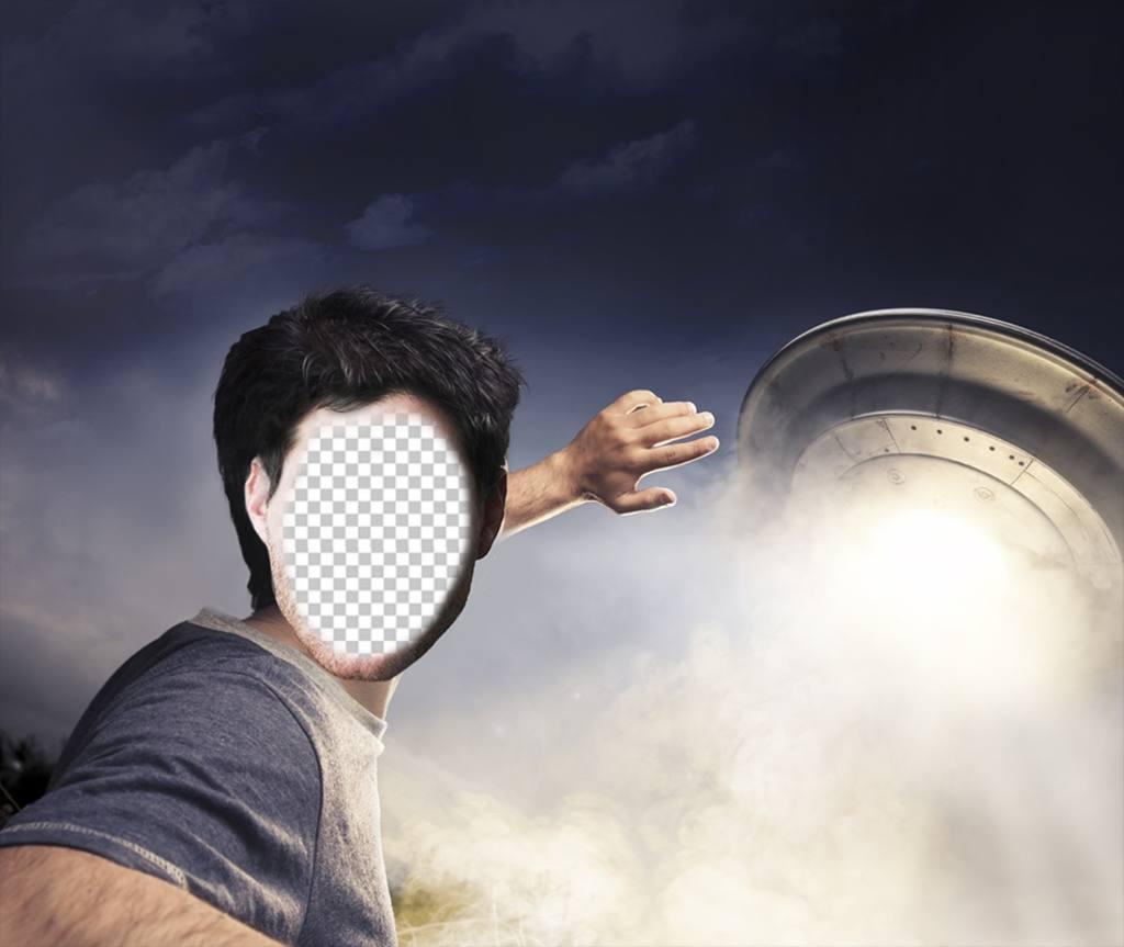 Photomontage dun homme dêtre capturé par un