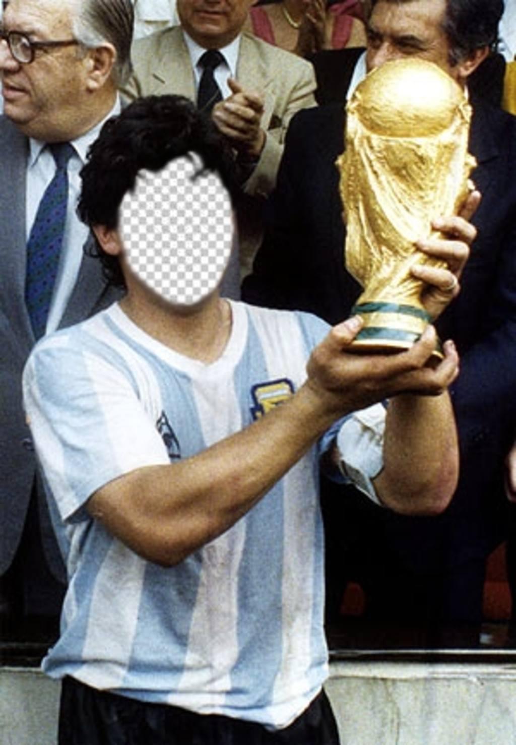 Devenir à Diego Armando Maradona levage football
