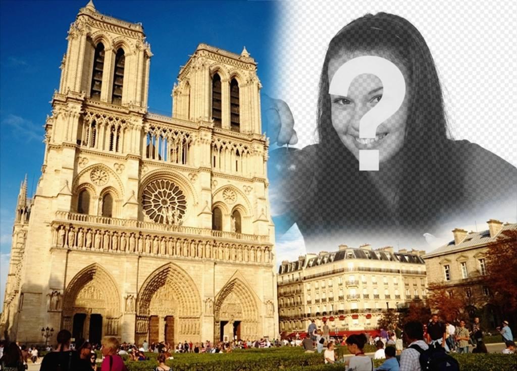 Carte postale personnalisée avec une image de Notre-Dame