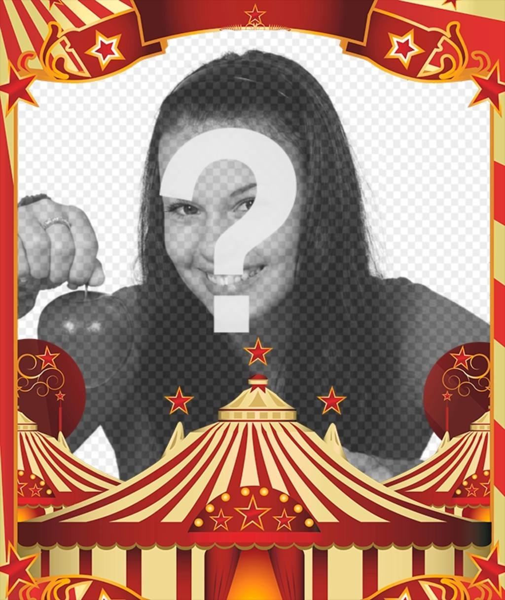 Cadre photo avec le dessin de cirque