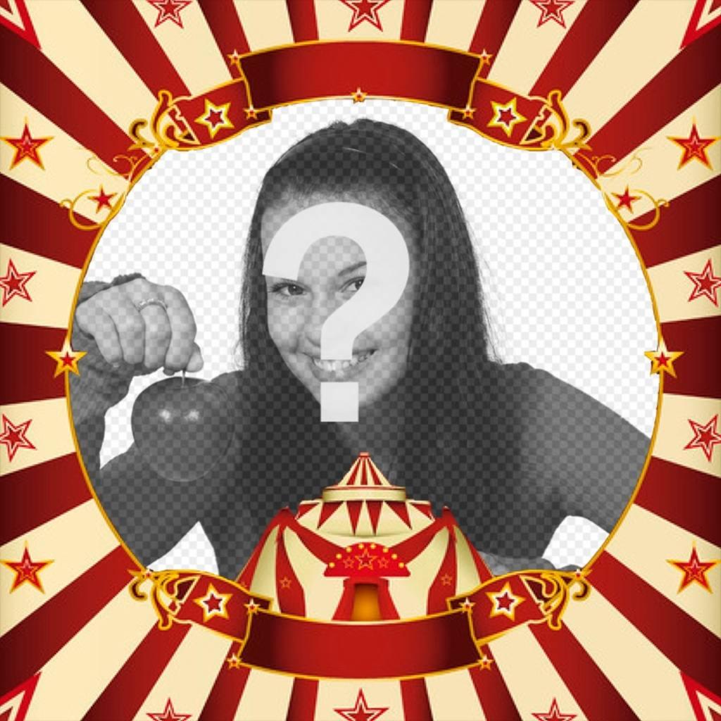 Cadrez votre photo avec une tente de cirque en ligne