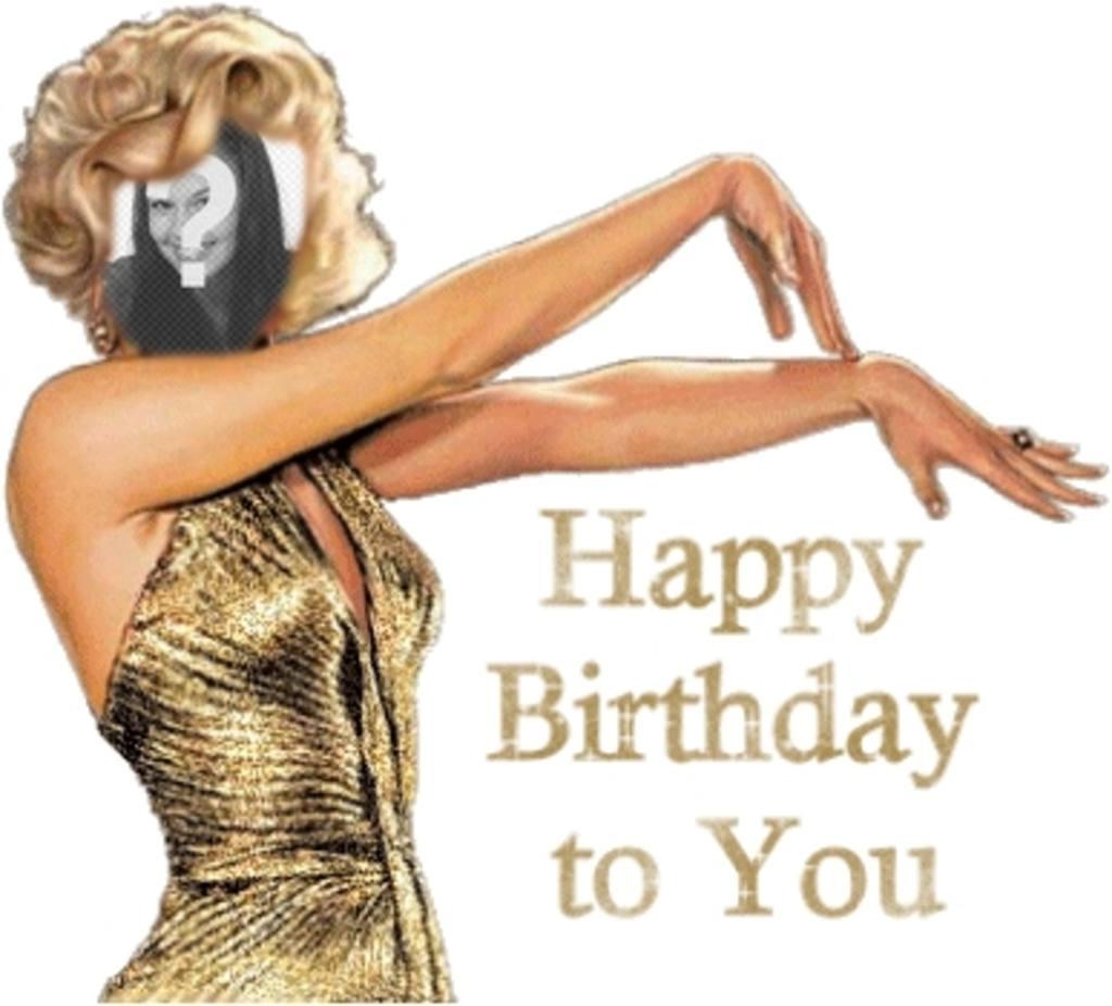 Carte danniversaire Joyeux Anniversaire Marilyn Monroe personnalisable