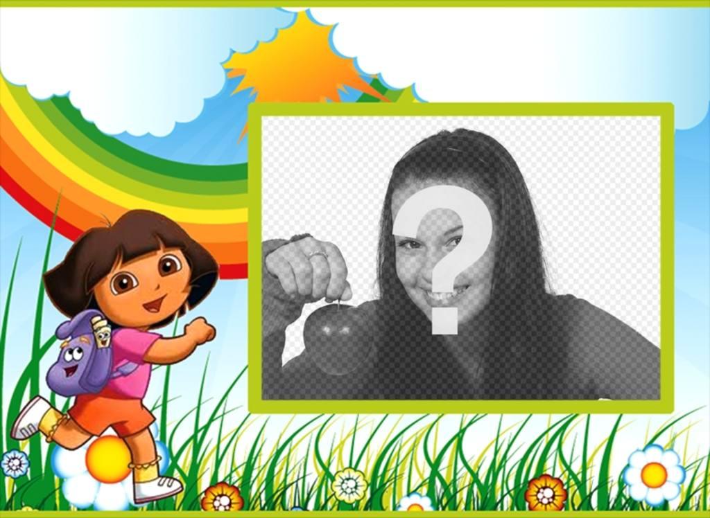 Invitation danniversaire pour enfants de Dora