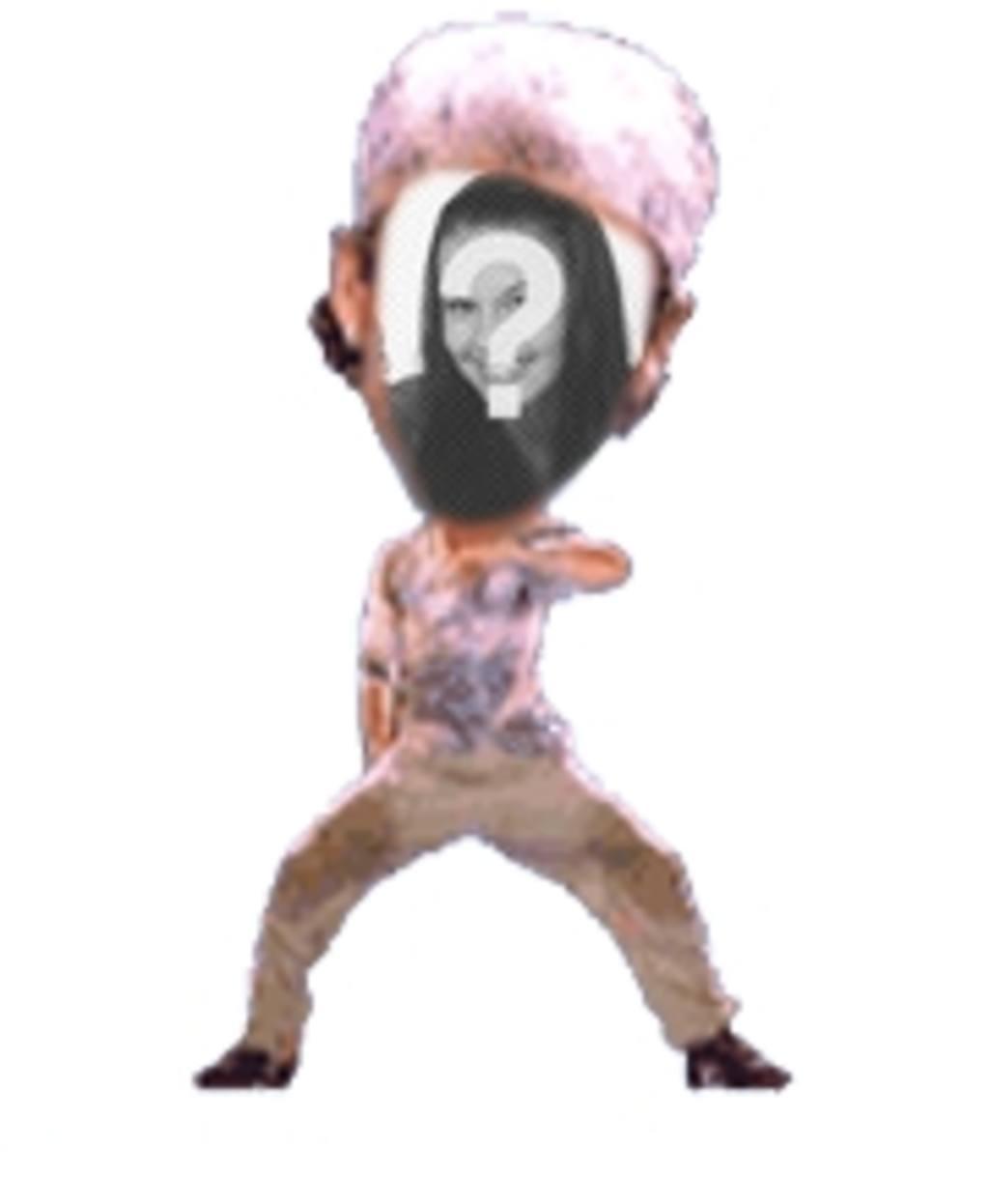 Fun animation personnalisée dans laquelle vous pouvez mettre votre visage dans un danseur fantastique