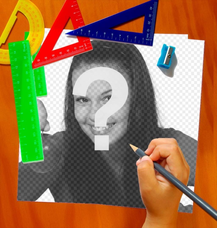 Iframe scolaire avec peinture à la main une photo de vous