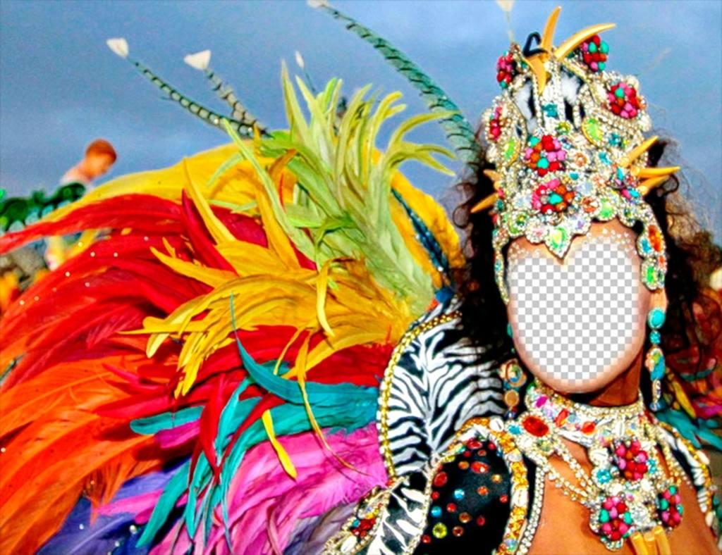 Photomontage dun carnaval de carnaval pour mettre votre photo effet