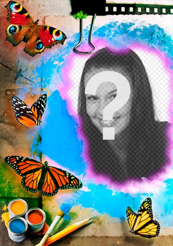 Collage avec une zone de dessin et peinture