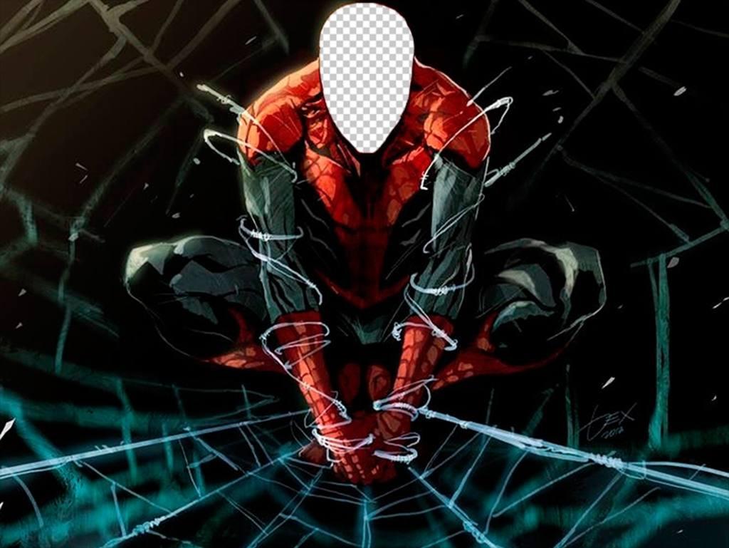 Effet photo de Spiderman faire avec votre visage